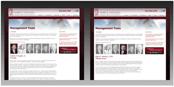Custom Digital Creative Design for Commercial Real Estate Management Team