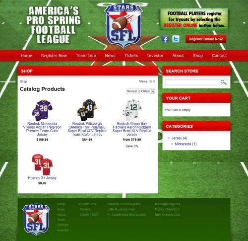 Shop - Stars Pro Spring Football League