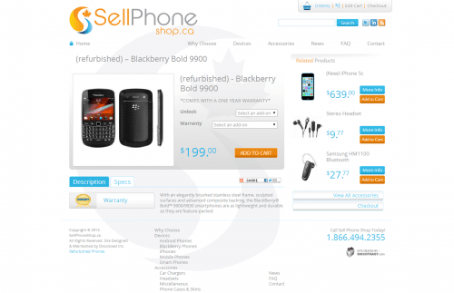 refurbished    Blackberry Bold 9900   Sell Phone Shop