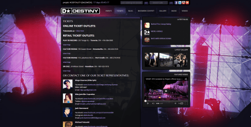 Destiny Events _ Tickets