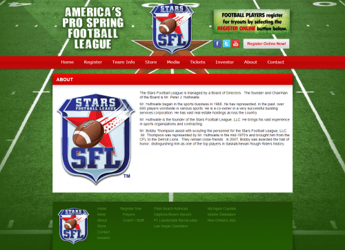 About   Stars Pro Spring Football League
