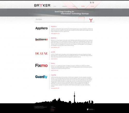 Bryker Capital Corp _ Portfolio