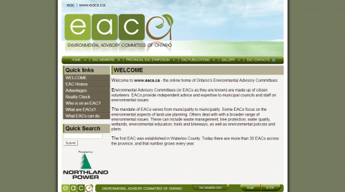 EAC   Environmental Advisory Committees of Ontario.   Welcome
