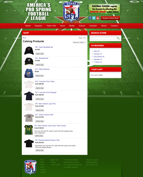 Shop   Stars Pro Spring Football League