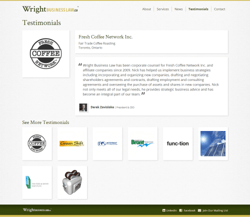 Fresh-Coffee-Network-Inc.-Derek-Zavislake-Wright-Business-Law-Testimonial