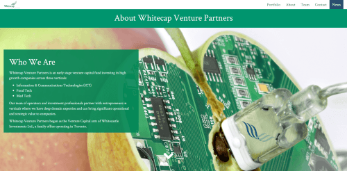 Whitecap Venture Partners  about