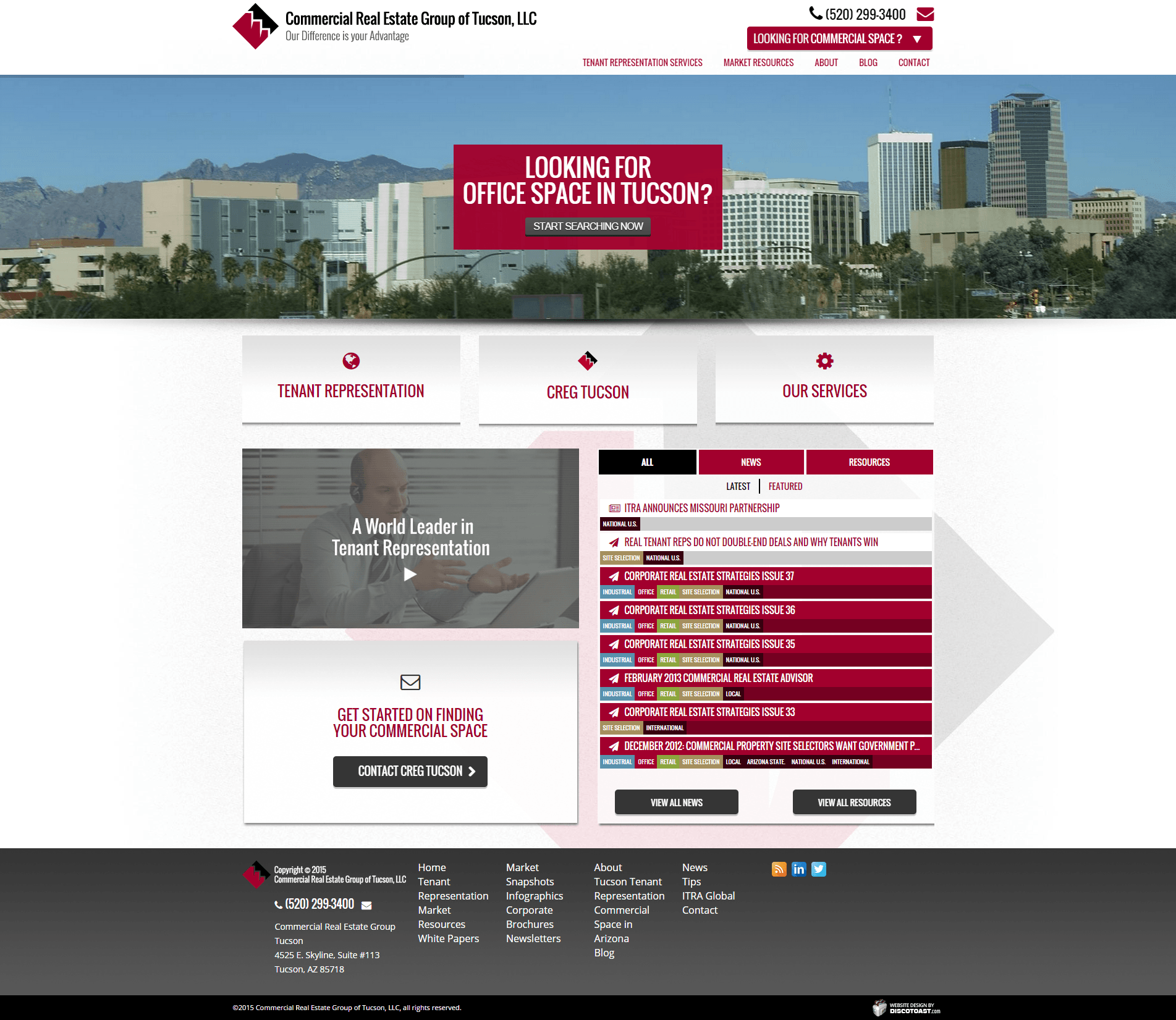 2015 Wordpress Design Portfolio Commercial Real Estate Group of Tucson  LLC