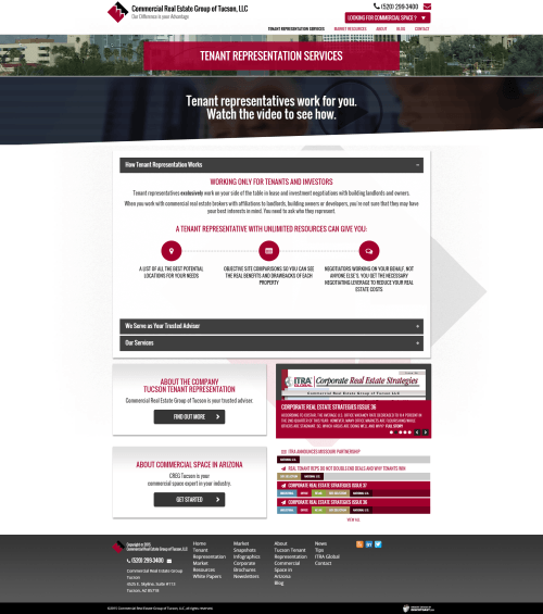 2015 Wordpress Design Portfolio Commercial Real Estate Group of Tucson LLC Services