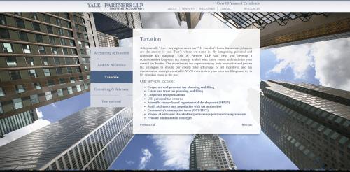 2015 Wordpress Design Portfolio Yale and Partners Services