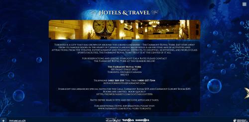 Hotels   Travel for 2016 Starlight Children s Foundation Gala