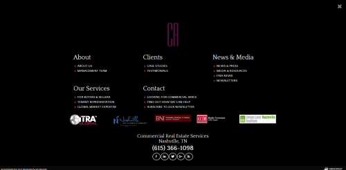 Nav Cherry and Associates Commercial Real Estate Web Design