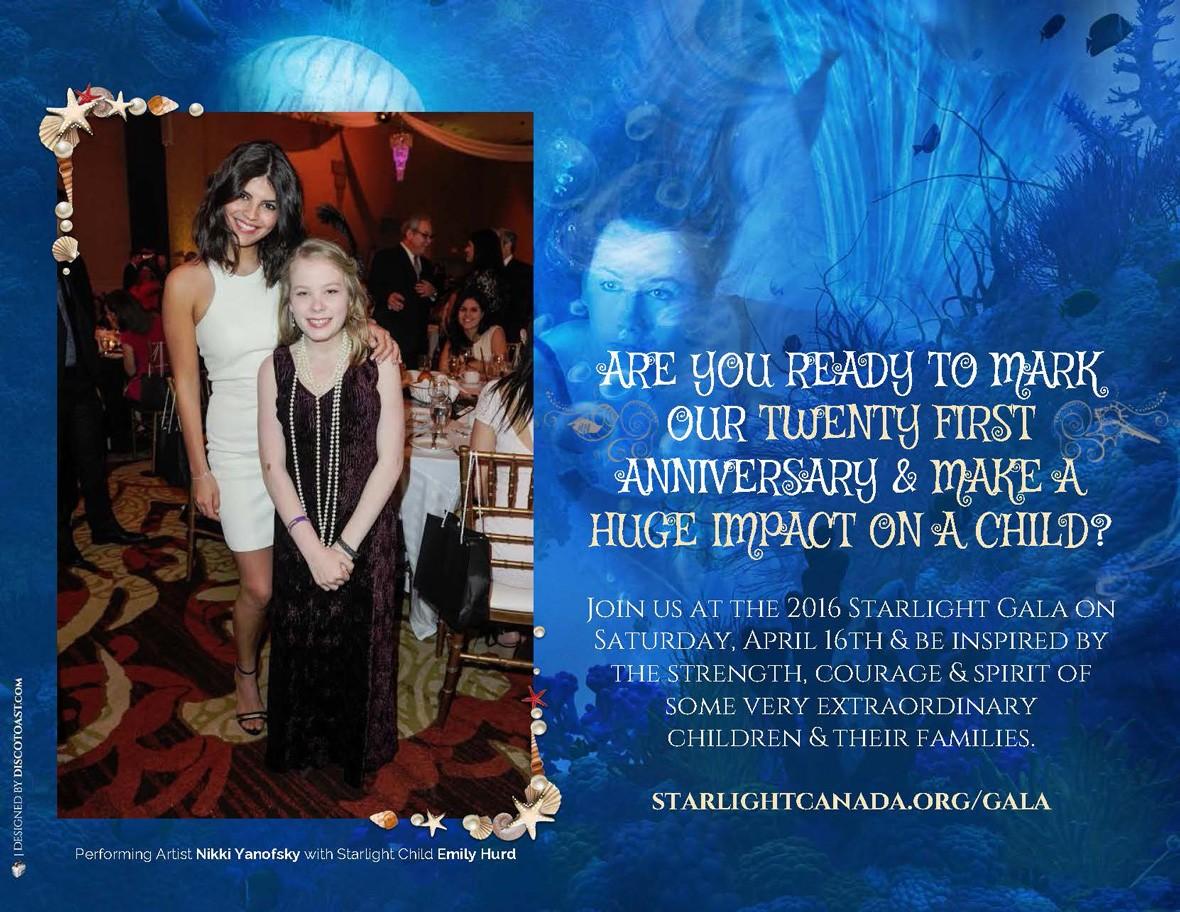 Starlight Children's Foundation Gala 2016 Invitation Page