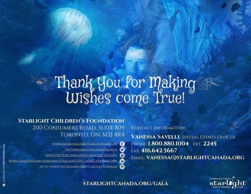 Starlight Children's Foundation Gala 2016 Thank You