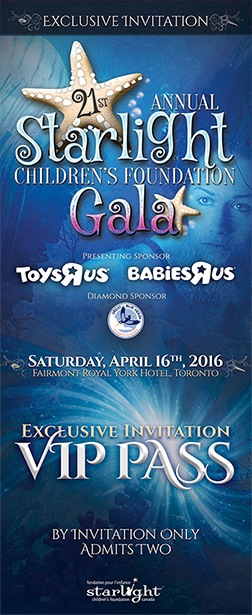Starlight Children's Foundation Gala 2016 VIP Ticket