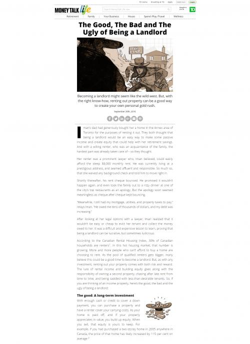 2016 Wordpress Design Portfolio- Money Talk Life Article Desktop