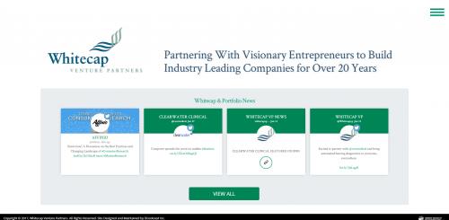 2017 Wordpress Design Portfolio- WhiteCap Venture Partners Home Page