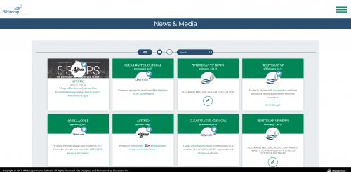 2017 Wordpress Design Portfolio- WhiteCap Venture Partners News and Media Page