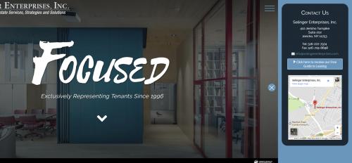 2017 Wordpress Design Portfolio- Selinger Enterprises Contact Sidebar Desktop