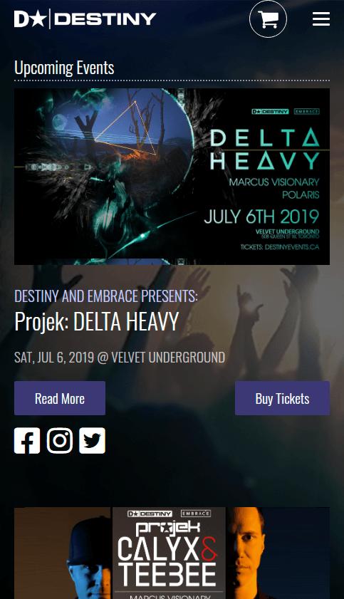 Destiny Events Mobile